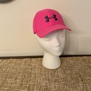 Women's beautiful bright pink baseball cap